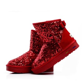 Ericdress Sequins Decorated Snow Boots