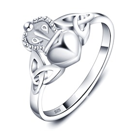 Ericdress Romantic Crown Heart Ring