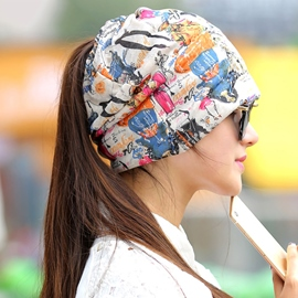 Colorful Patterns Printed Hair Covering Hat