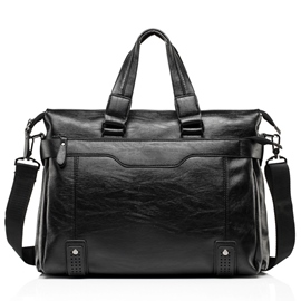 Ericdress Casual Waxy Leather Men's Handbag