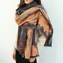 Ericdress Literature Oil Painting Scarf