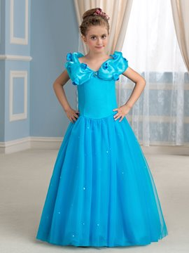Ericdress Charming A line Floor Length Princess Floor Girl Dress