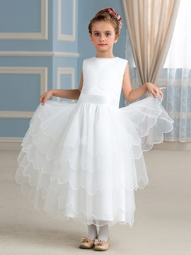 Ericdress Classical Jewel A Line Flower Girl Dress