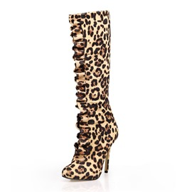 Ericdress Leopard Knee High Boots
