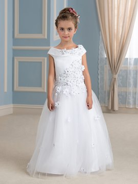 Ericdress High Quality Off The Shoulder Floor Length Flower Girl Dress