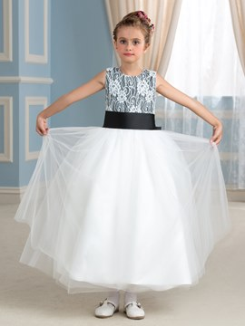 Ericdress Beautiful Jewel A Line Lace Flower Girl Dress