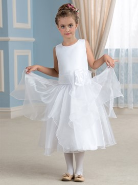 Ericdress Beautiful A Line Tea Length Flower Girl Dress