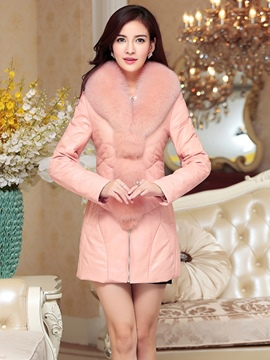 Ericdress PU Luxurious Fur Coat