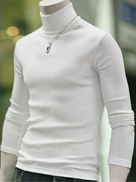 Ericdress Turtleneck Slim Men's Sweater