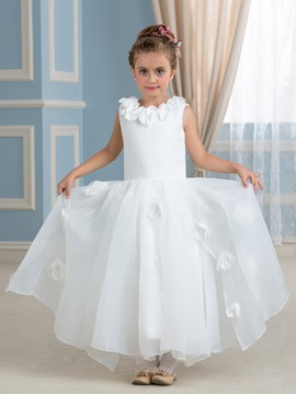 Ericdress High Quality Jewel A Line Flower Girl Dress
