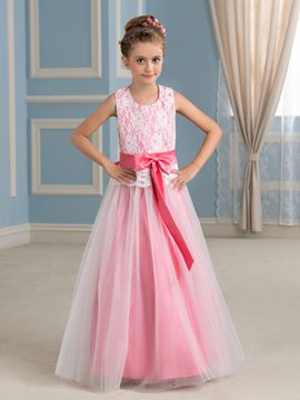 Ericdress Beautiful A Line Lace Flower Girl Dress