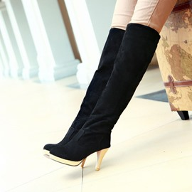 Ericdress Amazing Suede Knee High Boots