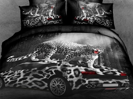 Ericdress Cool Leopard Car Print Bedding Sets