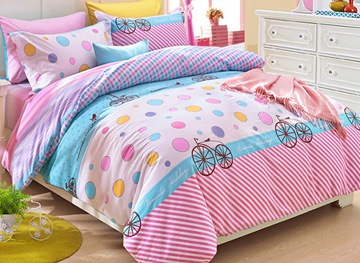 Ericdress Bicycle Diary Kids Bedding Sets