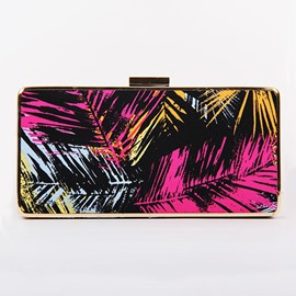 Ericdress Colorful Leaves Print Clutch