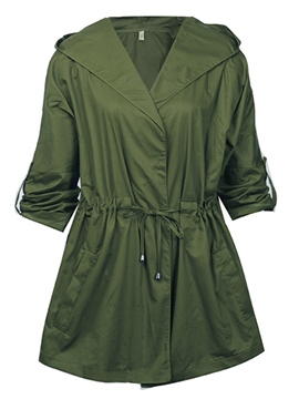 Ericdress Plain Casual Trench Coat