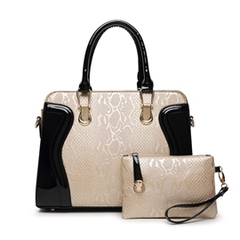 Ericdress Serpentine Embossed Handbags(2 Bags)