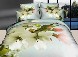 Ericdress Pure Pear Flower Print 3D Bedding Sets