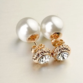 Ericdress Graceful Pearl Stud Earrings