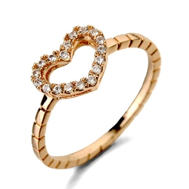 Ericdress Micro-Inclosed Diamante Heart Ring