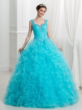 Ericdress Schatz Applikationen Perlen Ball Gown Quinceanera Kleid