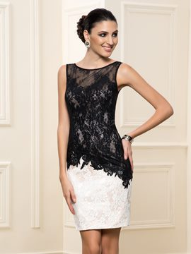 Ericdress Mantel Scoop Neck Lace Cocktail Dres