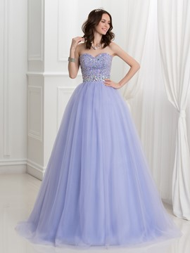 Ericdress Sweetheart Beading Floor-Length Ball Gown Quinceanera Dress