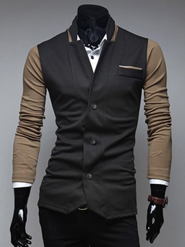 Ericdress Color Block Casual Slim Men's Blazer