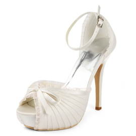 Ericdress Pretty Ankle Strap Peep Toe Wedding Shoes