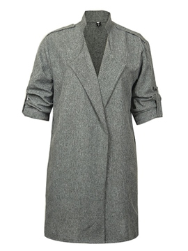 Ericdress Unique Collar Trench Coat