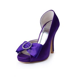 Ericdress Purple Wedding Shoes with Bowtie