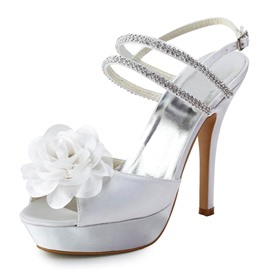 Ericdress Pretty Wedding Shoes with Rhinestone&flower