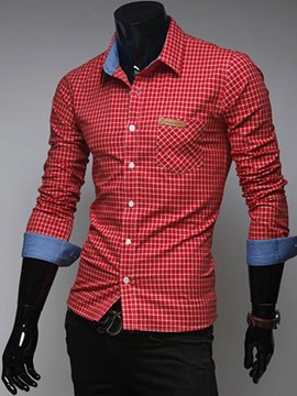 Ericdress Plaid Slim Various Colors Men's Shirt