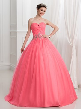 ericdress Sweetheart Perlen Falten Ball quinceanera Kleid