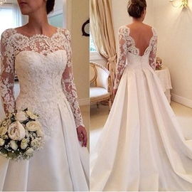 Ericdress Beautiful A Line Long Sleeves Wedding Dress