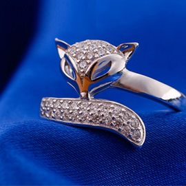 Ericdress Charming Fox 925 Silver Ring