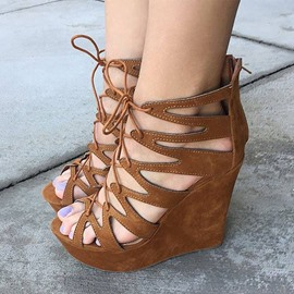 Ericdress Hollow Out Wedge Sandals