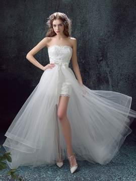 Ericdress Beautiful Sweetheart Asymmetry Wedding Dress