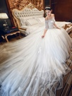 Ericdress Beautiful Off The Shoulder Lace Wedding Dress With Sleeves