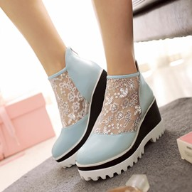 Ericdress Hollow Out Ankle Boots