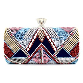 Ericdress Ethnic Handmade Beaded Diamond Clutch