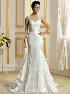 Ericdress Fancy Lace Mermaid Wedding Dress