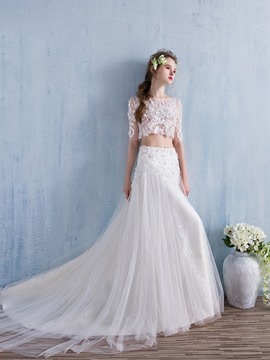 Ericdress Beautiful Two Pieces Wedding Dress
