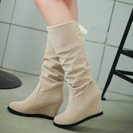 Ericdress Sweet Mid Calf Wedge Heel Boots