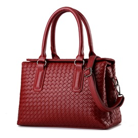 Ericdress Color Block Weaved Handbag