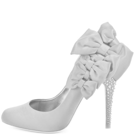 Ericdress Pretty White Bowtie High Heel Pumps
