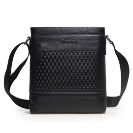 Ericdress Check Weaved Men's Shoulder Bag