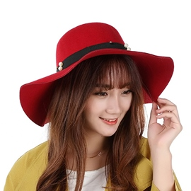 Ericdress Pearl Applique Floppy Hat