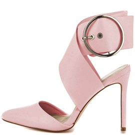 Ericdress Pink Point Toe Stiletto Sandals with Buckles