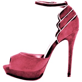 Ericdress Special Pink Suede Peep Toe Stiletto Sandals